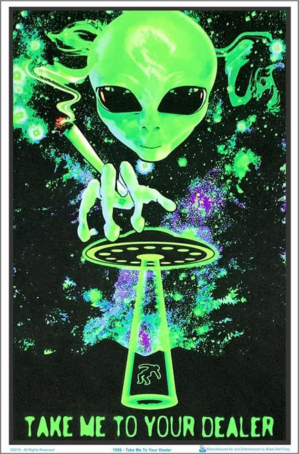 "Take Me To Your Dealer Blacklight Poster - 23"" X 35"""