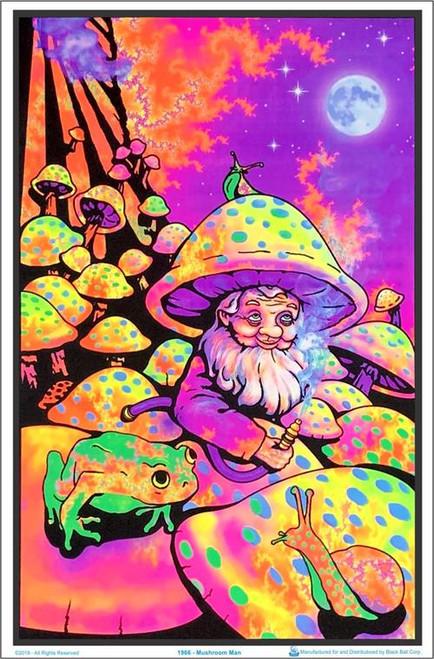 """Mushroom Man Blacklight Poster - 23"""" X 35"""""""