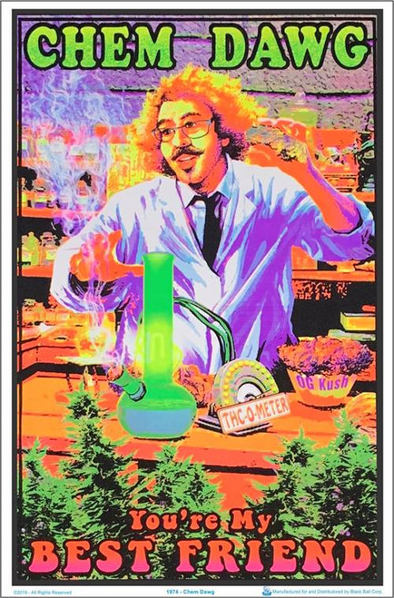 "Chem Dawg blacklight Poster - 23"" X 35"""