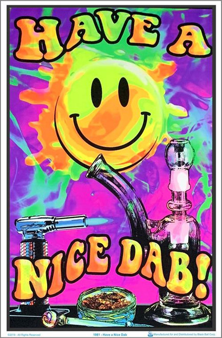 """Have A Nice Dab Blacklight Poster - 35"""" X 23"""""""