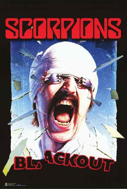 "Scorpions Blackout Poster - 24"" X 36"""
