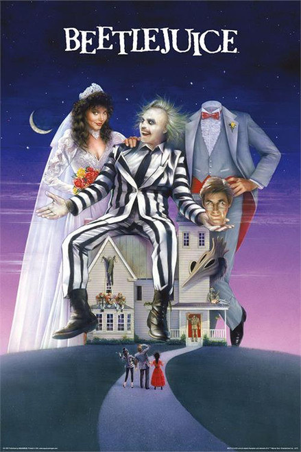 "Beetlejuice Movie Art Poster - 24"" X 36"""