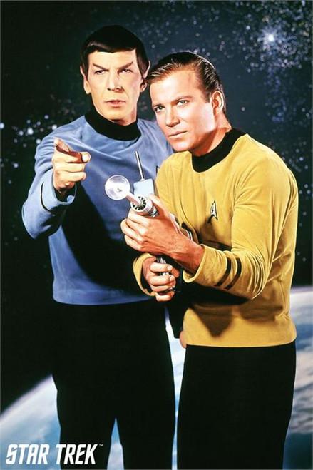 "Star Trek - Spock and Kirk Poster - 24"" X 36"""