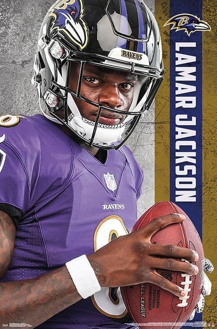 """NFL Baltimore Ravens - Lamar Jackson Poster - 22.375"""" x 34"""""""