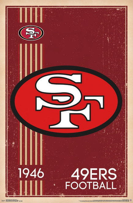 San Francisco 49'ers Poster - 22.375'' x 34''
