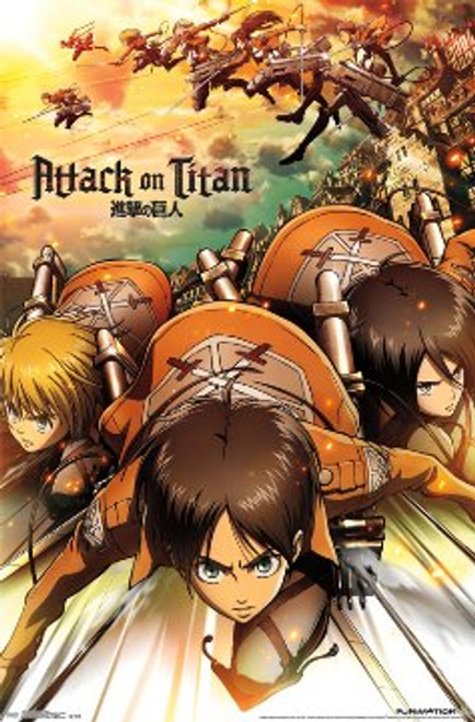 "Attack On Titan - Attack Poster - 23"" X 35"""
