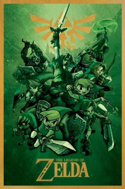 """The Legend Of Zelda Poster - 24"""" X 36"""""""