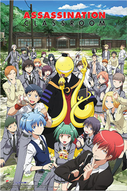 "Assassination Classroom - Group Anime Poster - 24"" X 36"""
