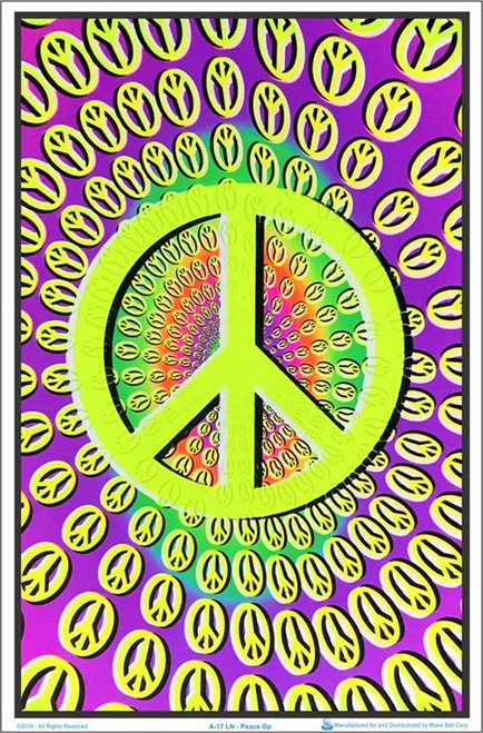 "Optical Peace Blacklight Poster - 23"" X 35"""