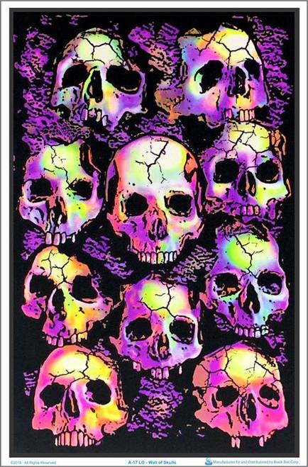 """Wall Of Skulls Blacklight Poster - 23"""" X 35"""""""