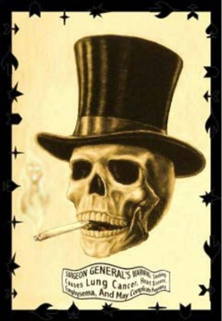 """Smoking Skull Poster - 24"""" X 36"""""""