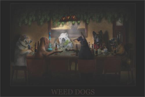 """Weed Dogs Poster - 36"""" X 24"""""""