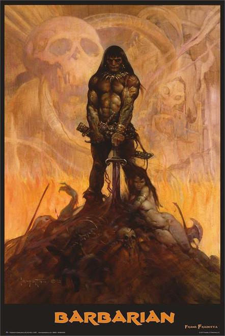 "Barbarian - By: Frank Frazetta - Poster - 24"" X 36"""