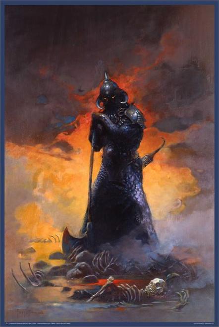 "Death Dealer Three - By: Frank Frazetta - Poster - 24"" X 36"""