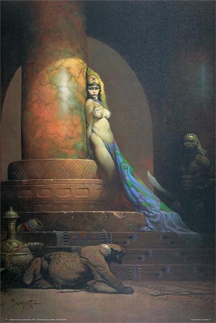 """Egyptian Queen - By: Frank Frazetta - Poster - 24"""" X 36"""""""
