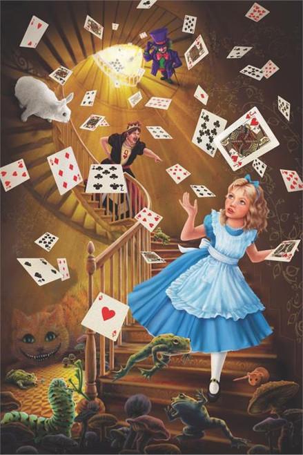 "Alice In Wonderland Stairway Poster - 36"" X 24"""