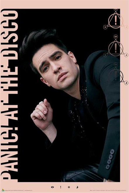 "Panic! At The Disco - Pink Frame Poster - 24"" X 36"""