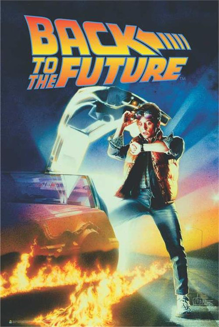 """Back to the Future One Sheet Movie Poster - 24"""" X 36"""""""