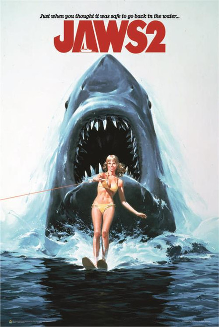 """Jaws 2 One Sheet Movie Poster - 24"""" X 36"""""""