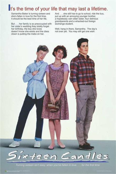 """Sixteen Candles One Sheet Movie Poster - 24"""" X 36"""""""