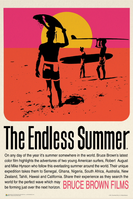 """The Endless Summer - Retro - Poster - 24"""" X 36"""""""