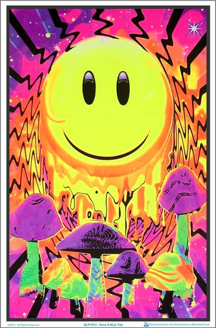 """Have A Nice Trip Blacklight Poster - 23"""" X 35"""""""