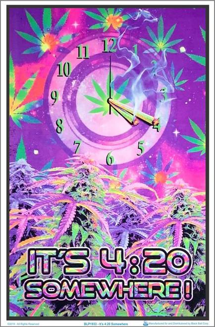 "It's 4:20 Somewhere Blacklight Poster - 23"" X 35"""