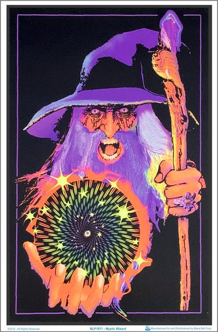 "Mystic Wizard Blacklight Poster - 23"" X 35"""