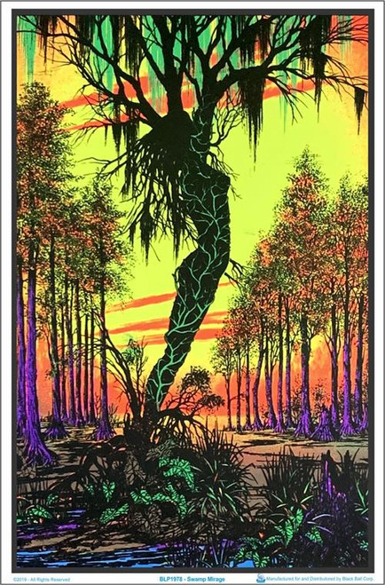 "Swamp Mirage Blacklight Poster - 23"" X 35"""