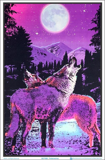 "Timberwolves Blacklight Poster - 23"" X 35"""