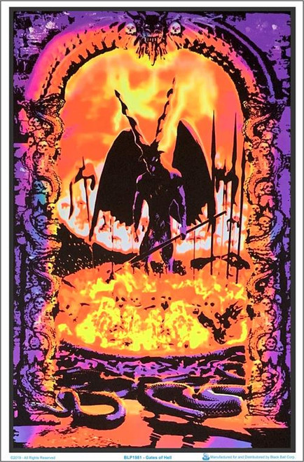 "Gates Of Hell Blacklight Poster - 23"" X 35"""