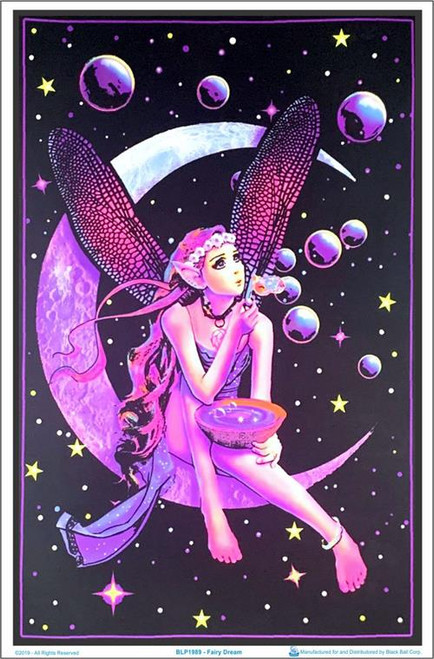 "Fairy Dream Blacklight Poster - 23"" X 35"""