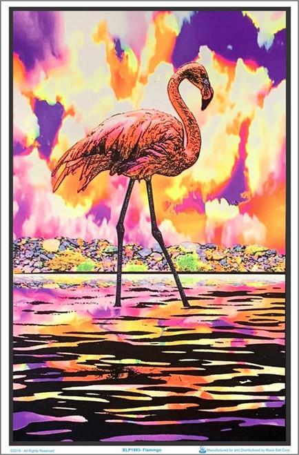 "Flamingo Blacklight Poster - 23"" X 35"""