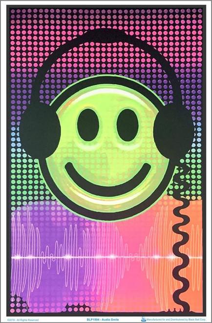 "Audio Smile Blacklight Poster - 23"" X 35"""
