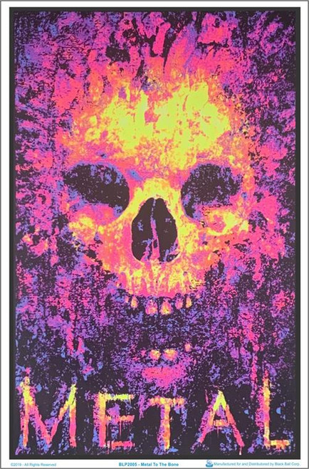 "Metal To The Bone Blacklight Poster - 23"" X 35"""