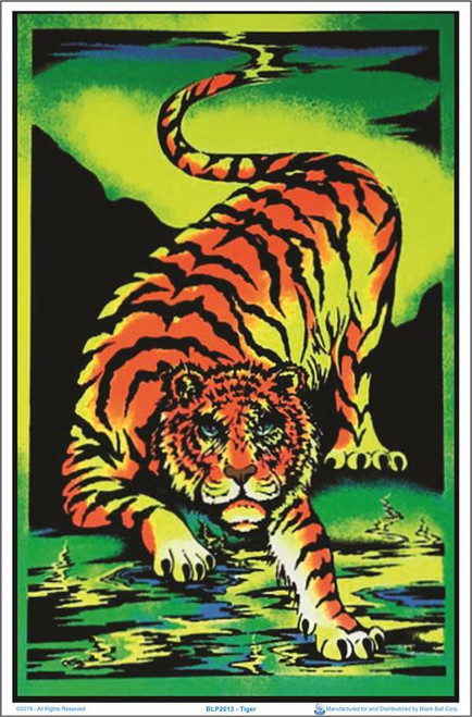 """Tiger Blacklight Poster - 23"""" X 35"""""""