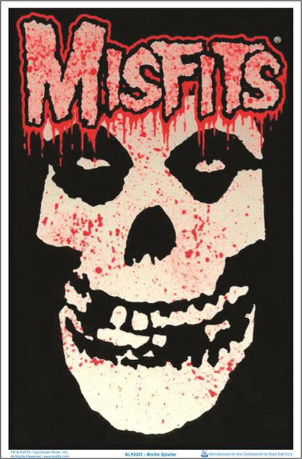 "Misfits Splatter Blacklight Poster - 23"" X 35"""