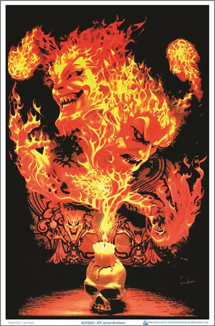 "Insane Clown Posse (ICP) Jeckel Brothers by Tom Wood Blacklight Poster 23"" x 35"""