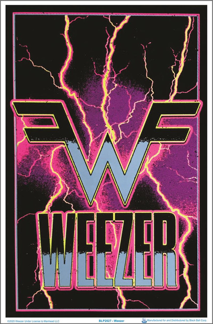 "Weezer - Electric - Blacklight Poster 23"" x 35"""
