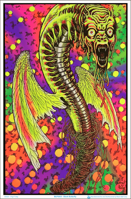 """Black Butterfly by: Virgil Finlay Blacklight Poster - 23"""" X 35"""""""