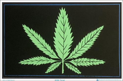 "The Leaf Blacklight Poster - 35"" X 23"""