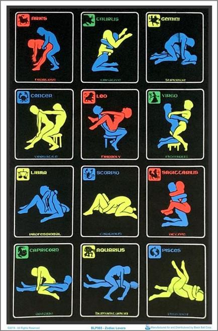 "Zodiac Lovers Blacklight Poster - 23"" X 35"""