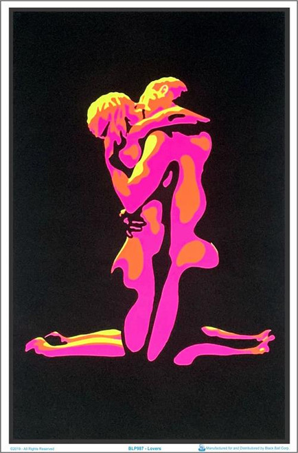"Lovers Blacklight Poster - 23"" X 35"""