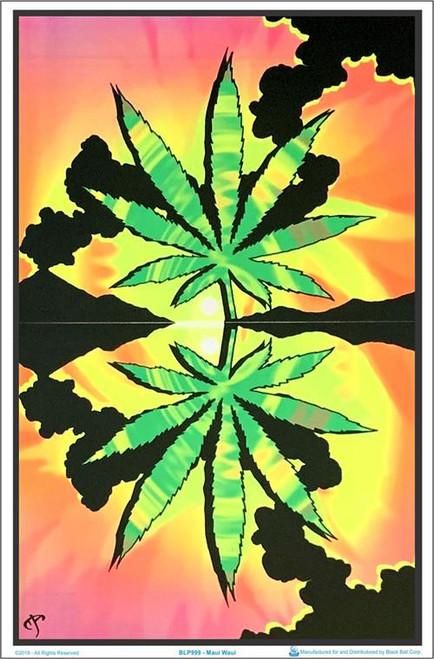 """Maui Waui Blacklight Poster - 23"""" X 35"""""""