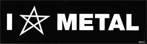 Metal - Bumper Sticker
