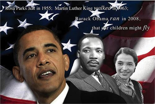 """Martin Luther King, Rosa Parks & Obama Poster - 36"""" X 24"""""""