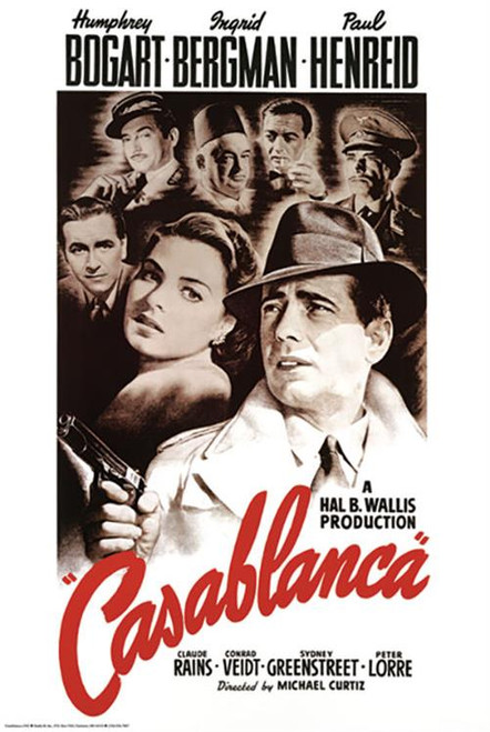 "Casablanca Movie Poster - 24"" X 36"""