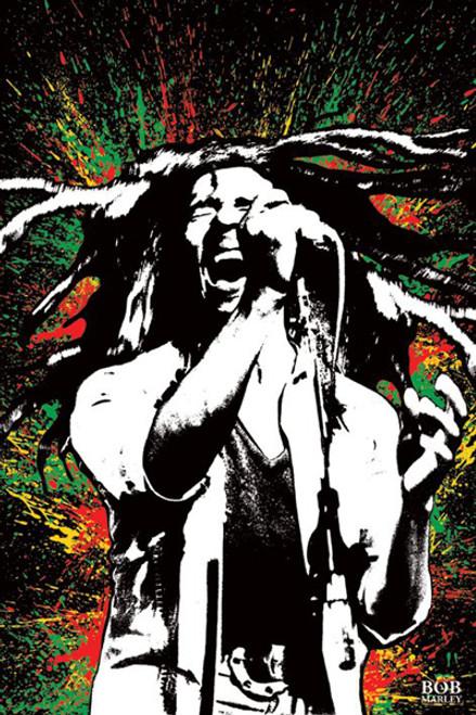 "Bob Marley Splash Poster - 24"" X 36"""