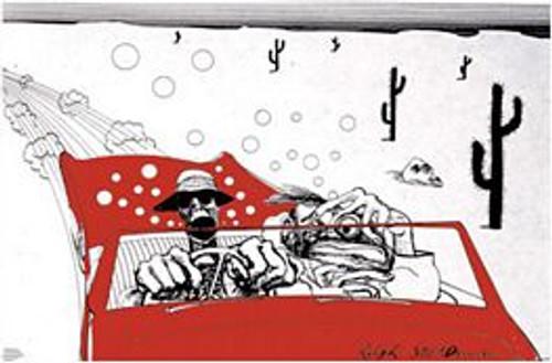 "Ralph Steadman - Hunter S. Thompson - Fear & Loathing - Poster - 36"" X 24"""
