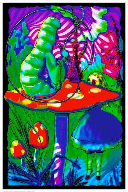 """Psychedelic Alice - Non Flocked Blacklight Poster - 24"""" X 36"""""""